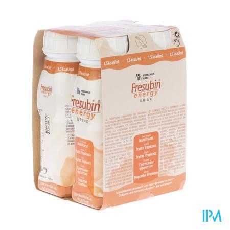 Fresubin Energy Drink Fruits Tropicaux Flacon 4x200 ml