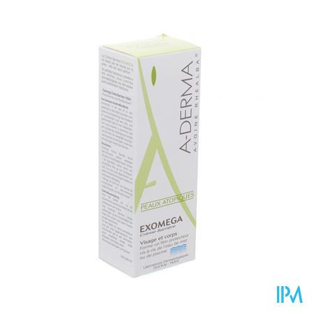 Afbeelding Aderma Exomega Barrièrecrème tegen Agressieve Omgevingsfactoren Tube 100 ml.