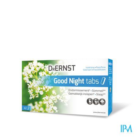 Afbeelding Dr Ernst Good Night Tabs voor Gemakkelijk Inslapen en Slaap met Valeriaan en Passiebloem 42 Tabletten.
