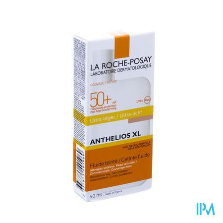 Afbeelding La Roche-Posay Anthelios XL Getinte Ultra-Lichte Zonnefluide SPF 50+ voor Gelaat 50ml.