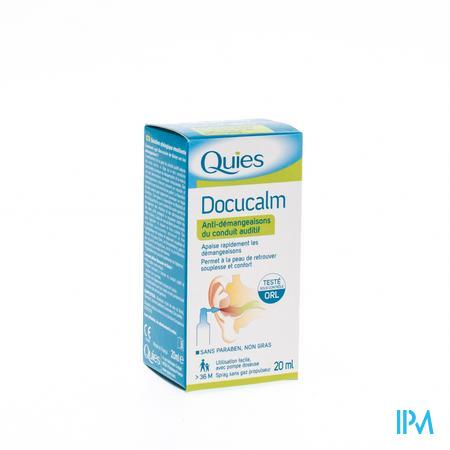 Quies Docucalm Spray Tegen Jeuk Gehoorgang 20ml