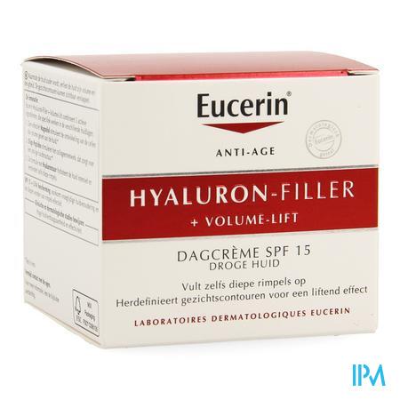 Afbeelding Eucerin Hyaluron-Filler + Volume-Lift Dagcrème met SPF 15 voor Droge Huid Pot 50 ml.