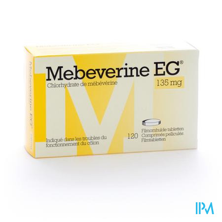Farmawebshop - MEBEVERINE EG 135 MG FILMOMH TABL 120 X 135 MG