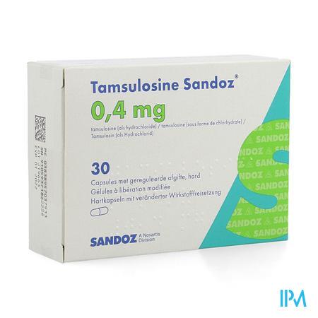 Tamsulosine Sandoz 0,4mg Gereg.afg. Caps 30x0,4mg