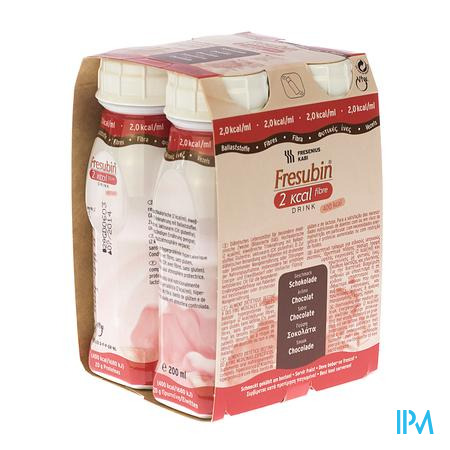 Fresubin 2 Kcal Fibre Drink Choco 4 x 200 ml