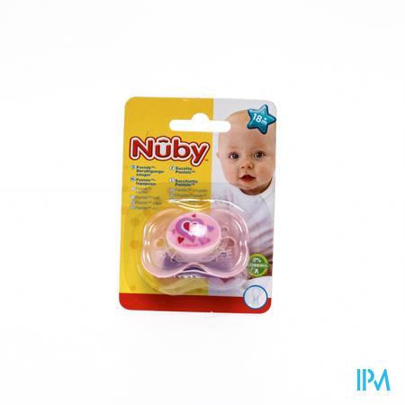 Nuby Fopspeen pp Pastel Ovaal +18m 1 stuk