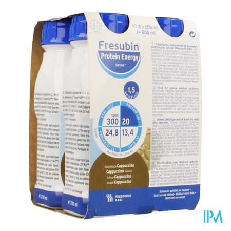 Fresubin Protein Energy Drink Cappuccino Fl4x200 ml