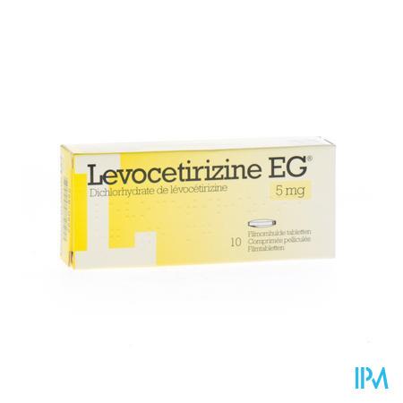 Levocetirizine EG 5 mg Filmomhulde Tabletten 10