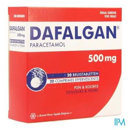 Afbeelding Dafalgan 500 mg 20 Bruistabletten.