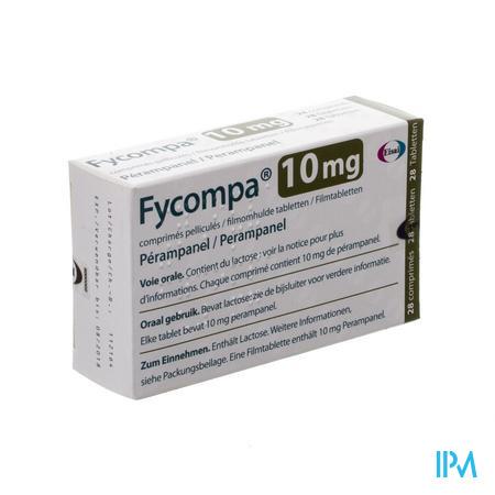 Fycompa 10 mg Omhulde Tabletten 28 X 10 mg
