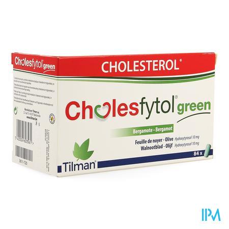 Afbeelding Cholesfytol Green met Bergamot, Walnootblad en Olijf voor Behoud van Gezond Cholesterolgehalte 84 Tabletten .