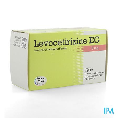 Levocetirizine EG 5 mg Comprimes Pellicules 100  -  EG