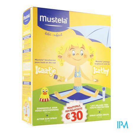 Afbeelding Mustela Koffertje Baby en Kind met Zonnemelk SPF 50+ zonder Parfum Tube 200 ml + Verzachtende en Kalmerende After Sun Spray 125 ml .