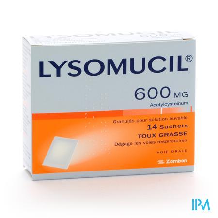 Lysomucil 600 Gran Sachets 14 X 600 mg