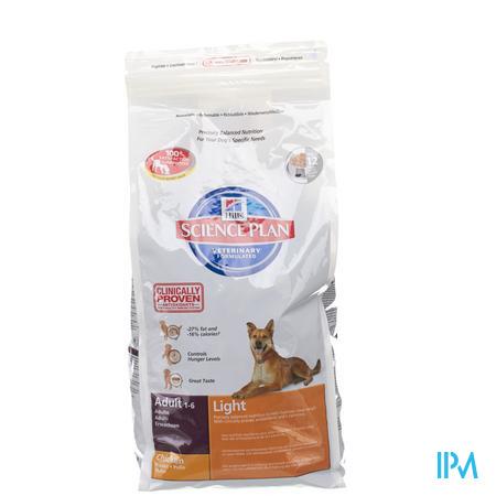 Hills Canine Hond Adult Light Kip 3 kg