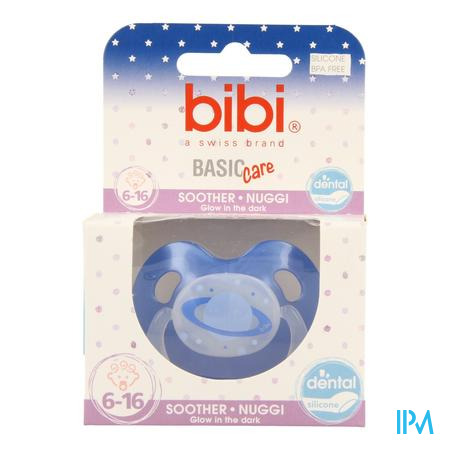 Bibi Fopspeen Basic Care Glow  6-16M