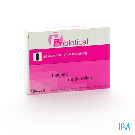 Farmawebshop - PROBIOTICAL 400MG 20CAPS