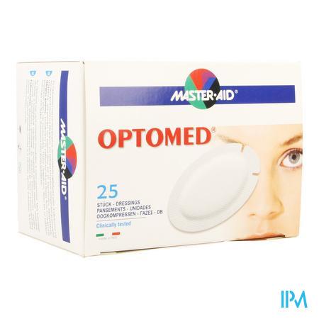 Optomed Oogkompres Adh Latexvrij 96x66mm 25 70119