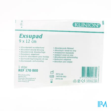 Klinion Exsupad Ster 9x12cm S 1 4170000