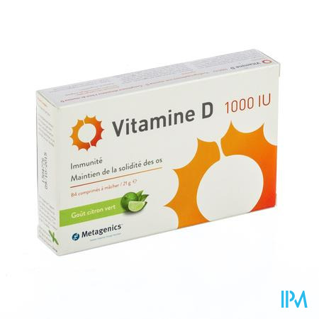 Vitamine D 1000iu Tabl 84 Metagenics