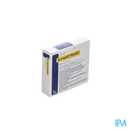 Actrapid Penfill 100 Iu/ml 5 X 3,0ml