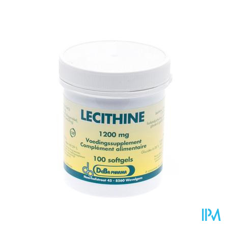 Lecithine Capsule 100x1200 mg Deba