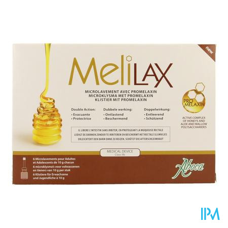 Aboca Melilax Microklysma 6 x 10 g