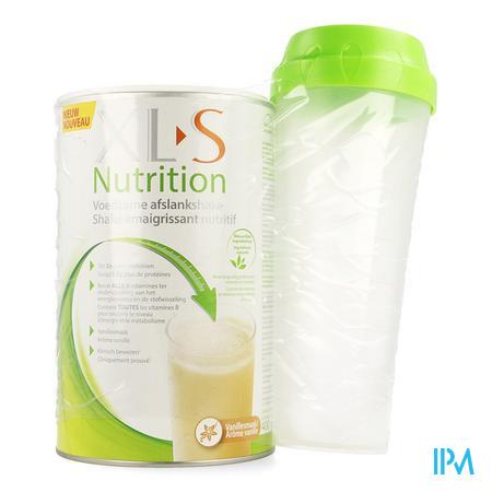 Afbeelding XLS Nutrition Voedzame Afslankshake met Vanillesmaak Pot 400 g met Shaker.