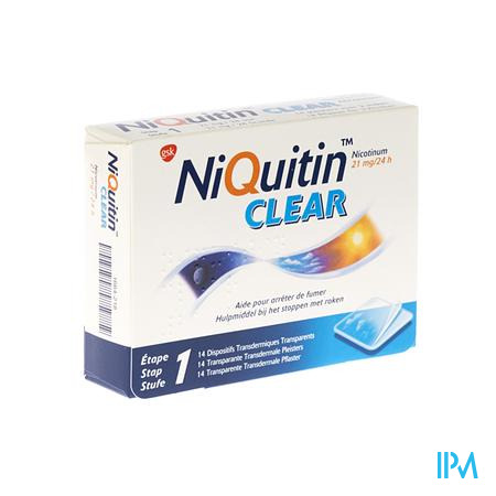 Niquitin Clear 21mg 14 patch 14 pleisters