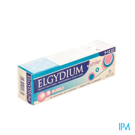 Afbeelding Elgydium Junior Tandpasta Bubble 50ml.