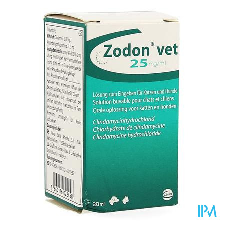 Zodon Vet 25mg/ml Ora Opl 20ml