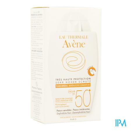 Afbeelding Avène Waterbestendige Minerale Zonnefluide met SPF 50+ zonder Parfum Tube 40 ml.