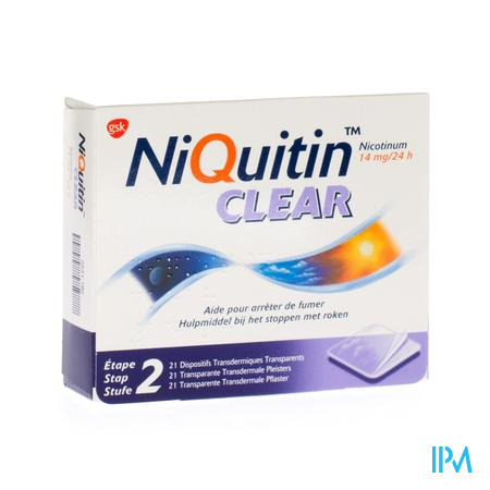 Niquitin Clear 14mg 21 patch 21 pleisters
