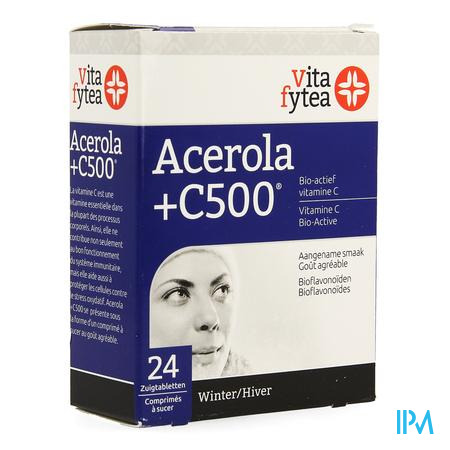Vitafytea Acerola+ Vit C 500 24 zuigtabletten