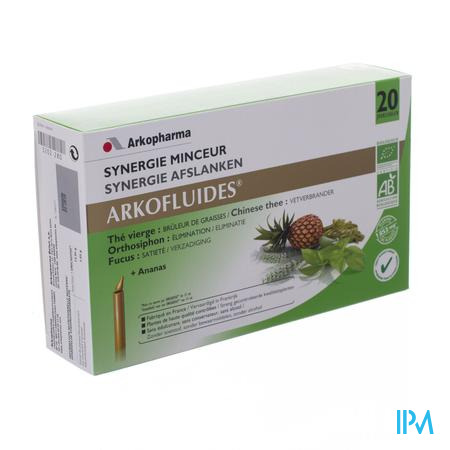 Arkofluide Synergie Minceur 20 x 15 ml ampoules