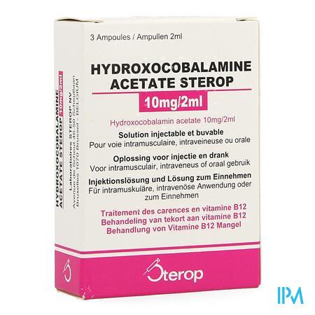Hydroxocobal.acet. Ampullen 3x10 mg/2 ml