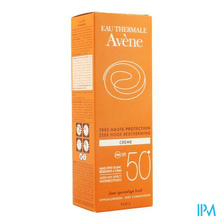 Afbeelding Avène Waterproof Zonnecrème met SPF 50+ Tube 50 ml.