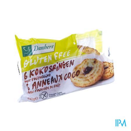 Damhert Coco Anneaux aux Fruits Sans Gluten 240 g
