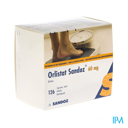 Orlistat Sandoz Harde Caps 126 X 60mg