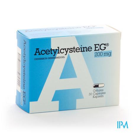 Afbeelding Acetylcysteïne EG 200mg 30 capsules.