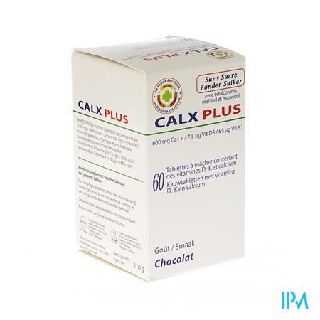 Farmawebshop - CALX-PLUS CA+D3+K1 BONBON CHOCOLADE Z/SUIKER 60
