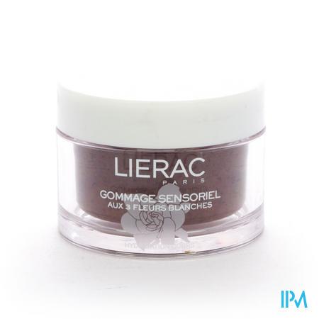 Afbeelding Lierac Gommage Sensoriel Peeling met 3 Witte Bloemen Hydrateert het Lichaam Pot 175 ml.