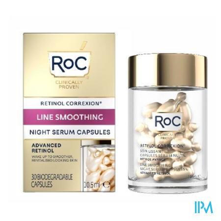 Roc Retinol Correx.line Smooth.night Serum Caps 10
