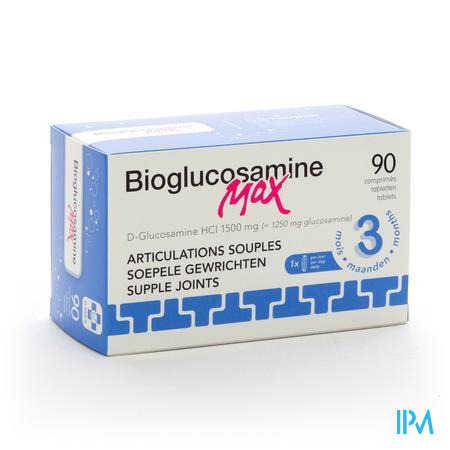Farmawebshop - BIOGLUCOSAMINE MAX ZONDER MN COMP 90