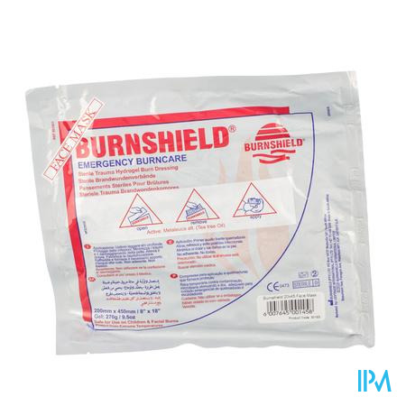 Burnshield Face Mask 20x45cm Covarmed