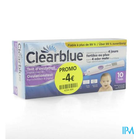 Clearblue Advanced Ovulatietest 10 Promo -4€