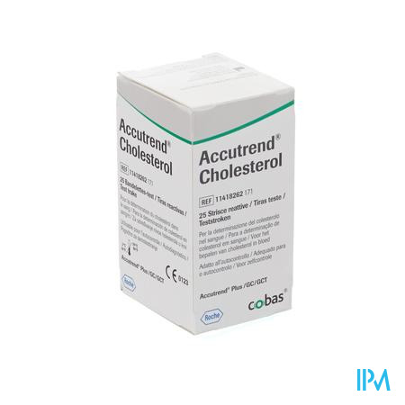 Accutrend Cholesterol Strips 25 11418262165