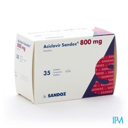 Aciclovir Sandoz Comp 35x800mg