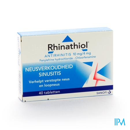 Farmawebshop - RHINATHIOL ANTIRHINITIS 40TAB