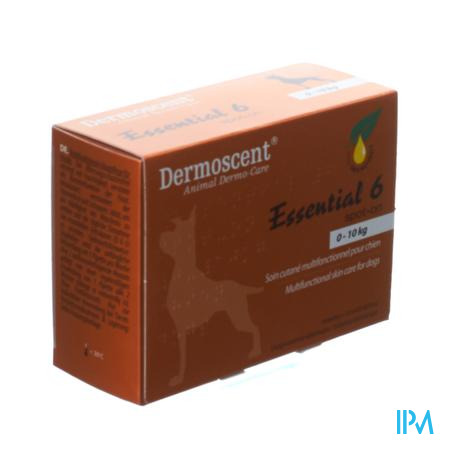 Dermoscent Spot-On Hond 1-10Kg Pipet 0,6Ml 4 stuks